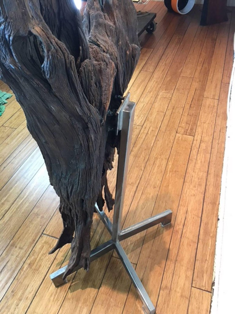 Ironwood and Steel Sculpture For Sale 3