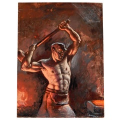 """""""Ironworker,"""" Important Sketch of Industrial Labour by John Garth, 1925"""
