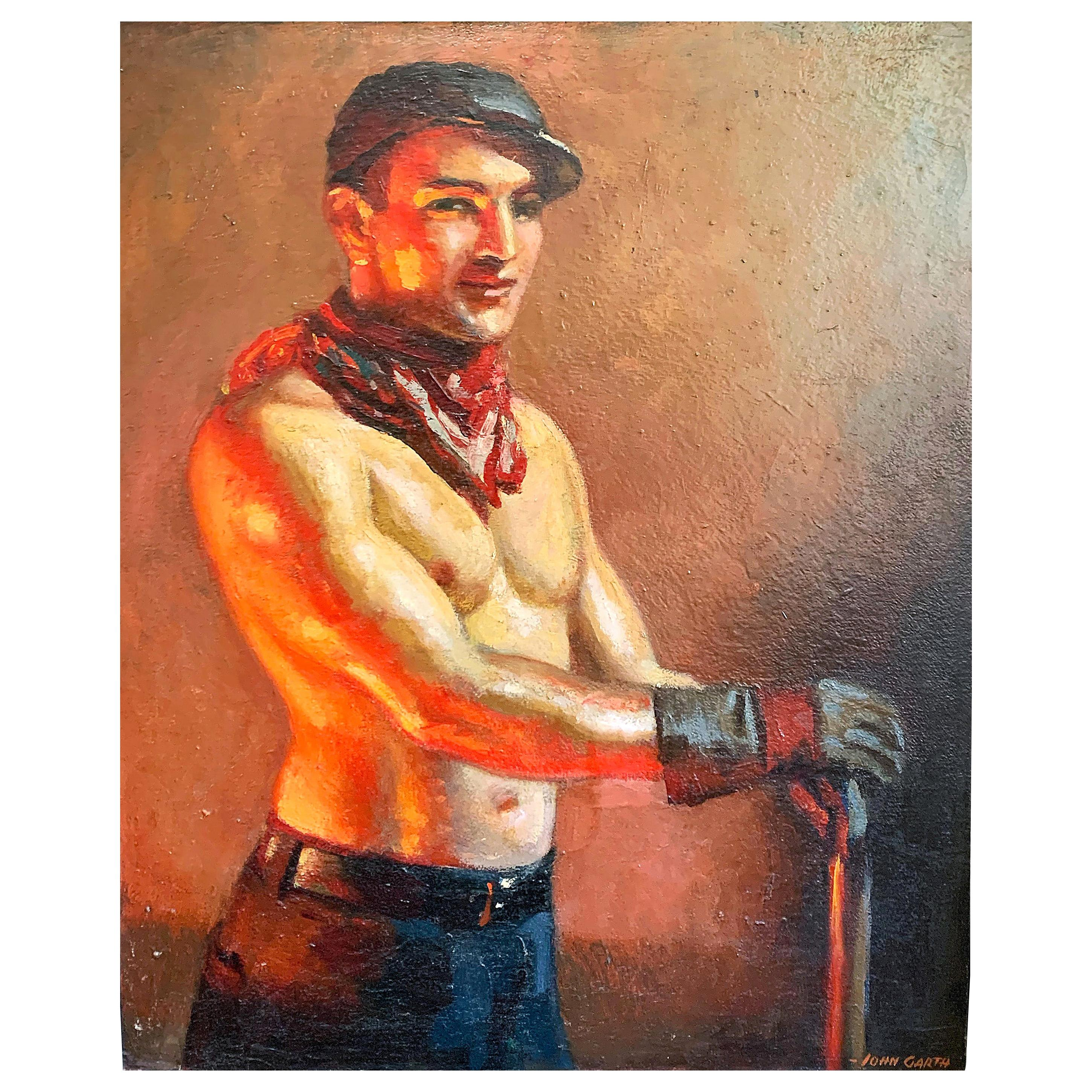"""""""Ironworker,"""" Rare Example of 1920s Worker Portrait by John Garth, 1920s"""