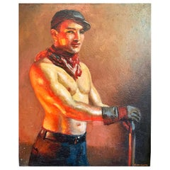 """Ironworker,"" Rare Example of 1920s Worker Portrait by John Garth, 1920s"