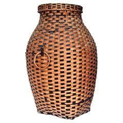 Iroquois Splint Storage Basket, circa 1900