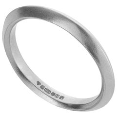 The Rock Hound Inverted Profile Band in 18 Carat White Fairtrade Gold