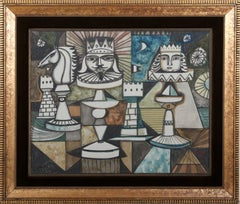 Chess, Painting by Irving Amen