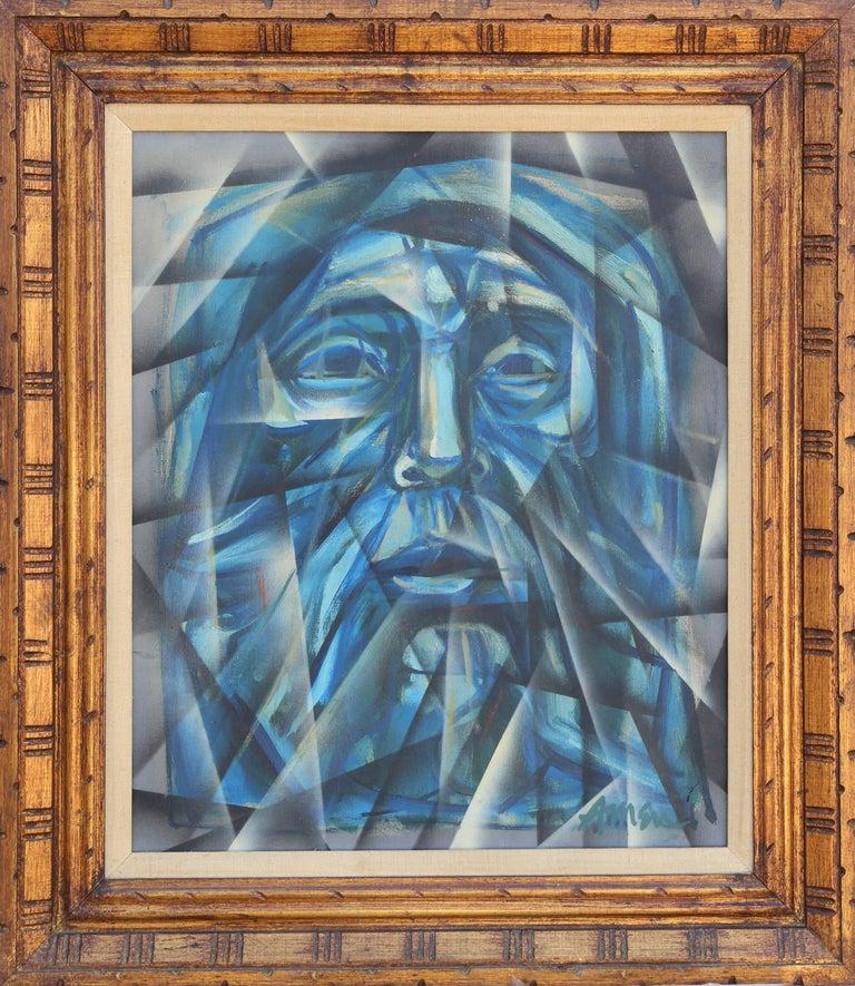 "Irving Amen Portrait Painting - ""The Prophet,"" Oil on Canvas, circa 1964"