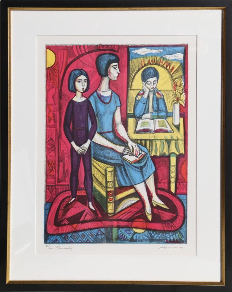 Irving Amen Figurative Print - Family