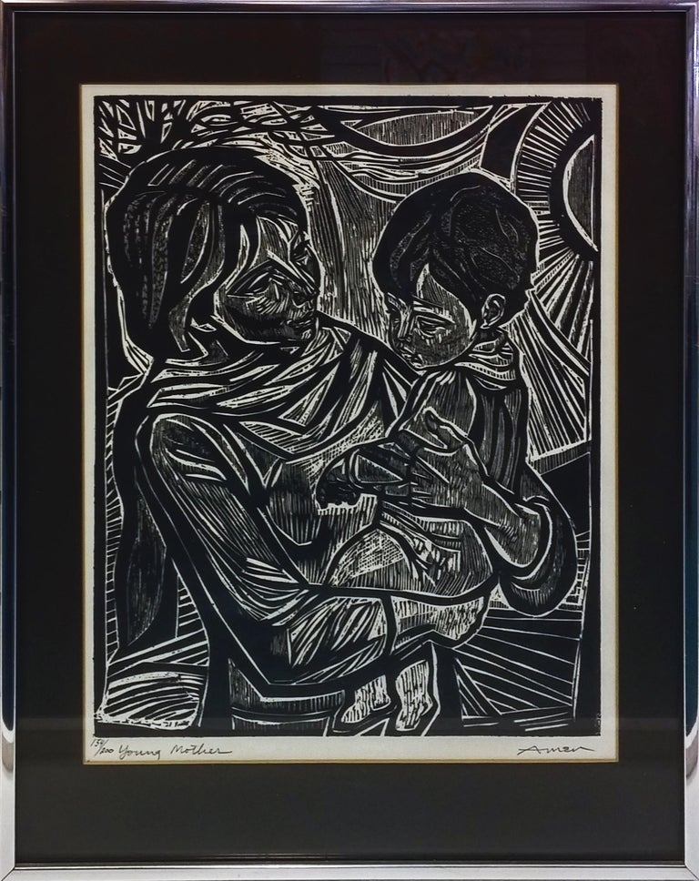 YOUNG MOTHER - Print by Irving Amen