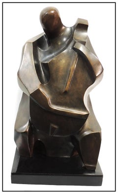 Irving Amen Original Bronze Sculpture Musical Figurative Signed Modern Artwork