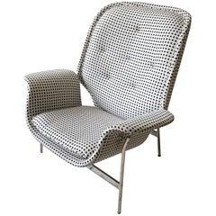 Irving Harper George Nelson Kangaroo Lounge Chair in Alexander Girard Textile