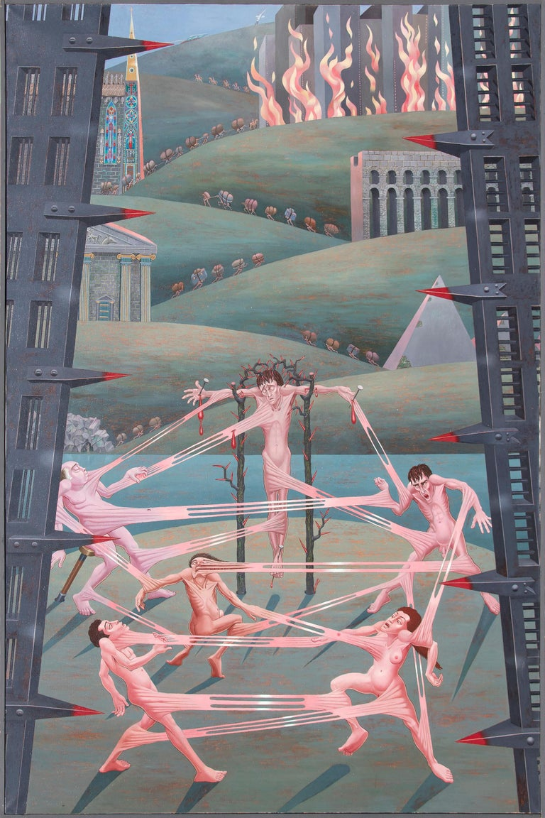 Interrelations - Painting by Irving Norman