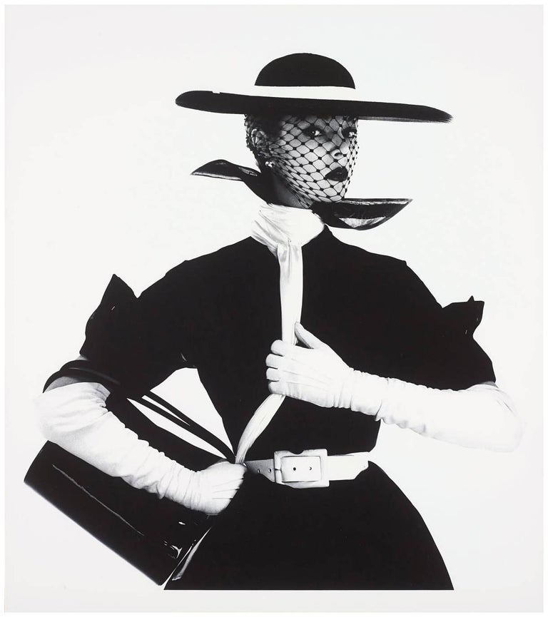 Irving Penn (b.1917) Black and White Photograph - B&W Fashion with Handbag, Jean Patchett