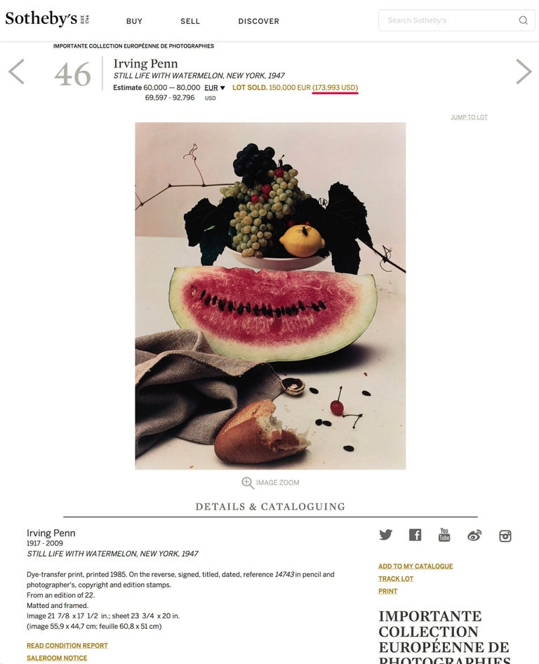 Still life with Watermelon, NY  For Sale 5
