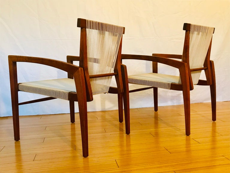 Irving Sabo Studio Crafted Wood Chairs, 20th Century For Sale 4