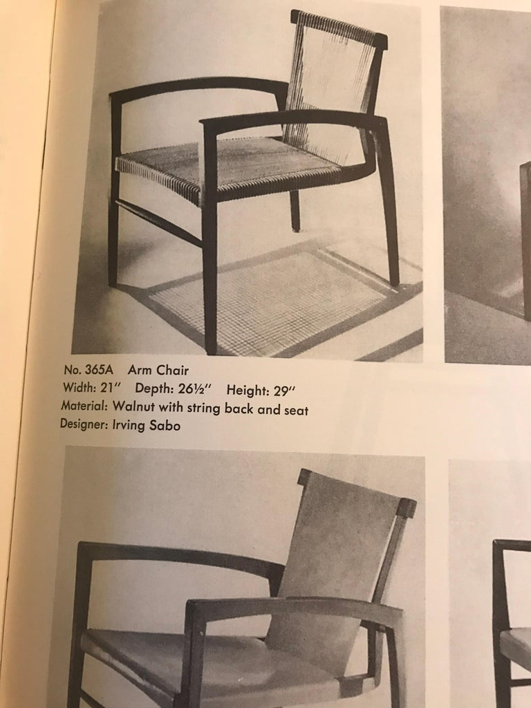 Irving Sabo Studio Crafted Wood Chairs, 20th Century For Sale 5