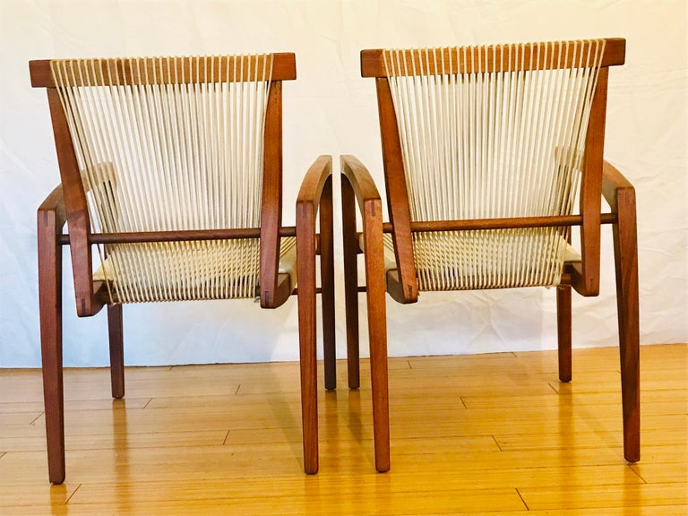 American Irving Sabo Studio Crafted Wood Chairs, 20th Century For Sale