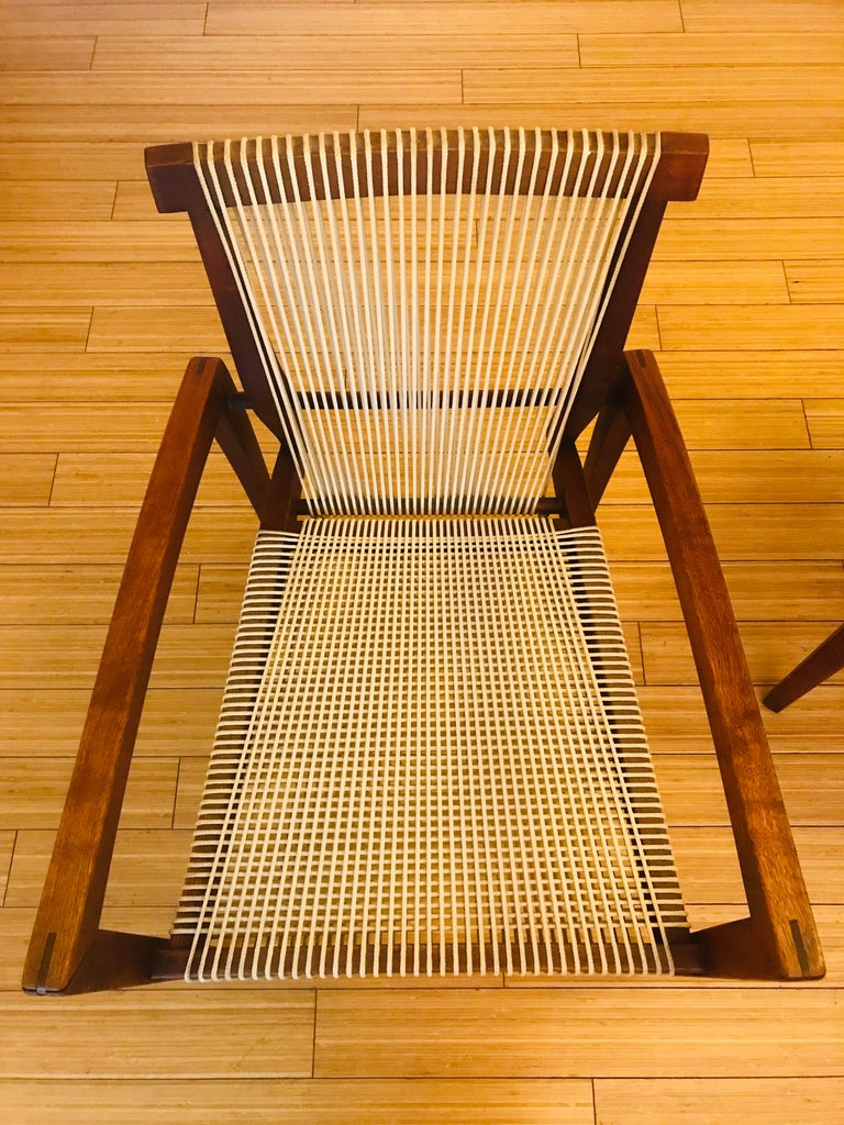 Irving Sabo Studio Crafted Wood Chairs, 20th Century In Good Condition For Sale In Los Angeles, CA