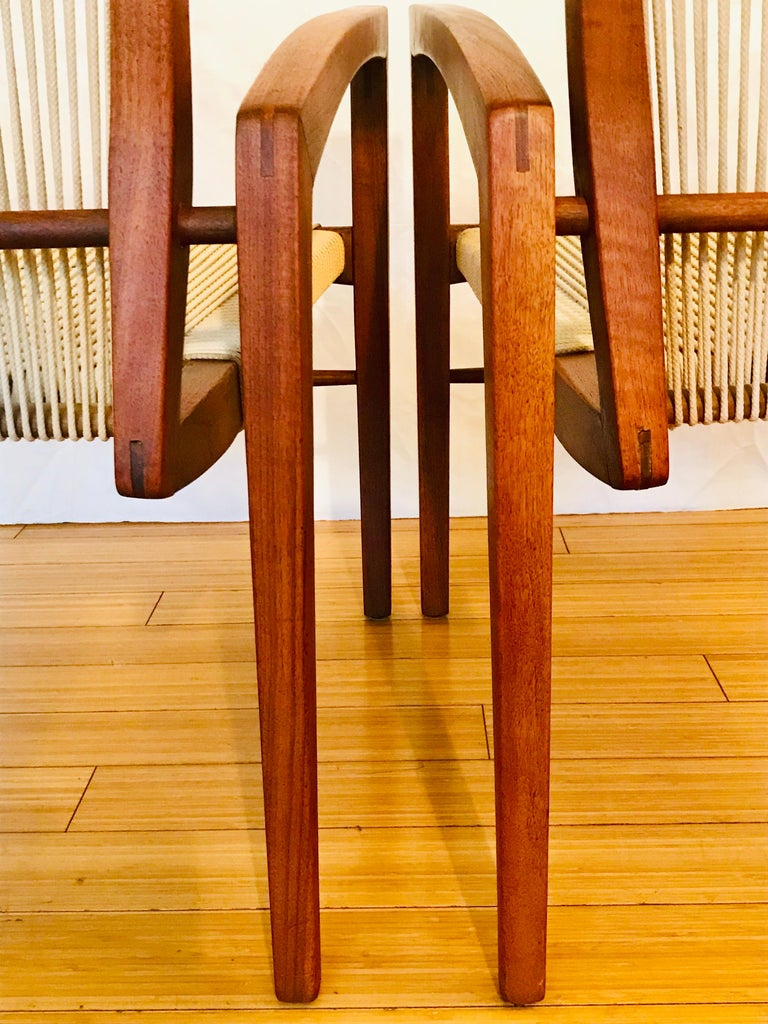 Irving Sabo Studio Crafted Wood Chairs, 20th Century For Sale 3