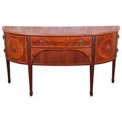 Irwin Federal Style Flame Mahogany Demilune Sideboard Credenza
