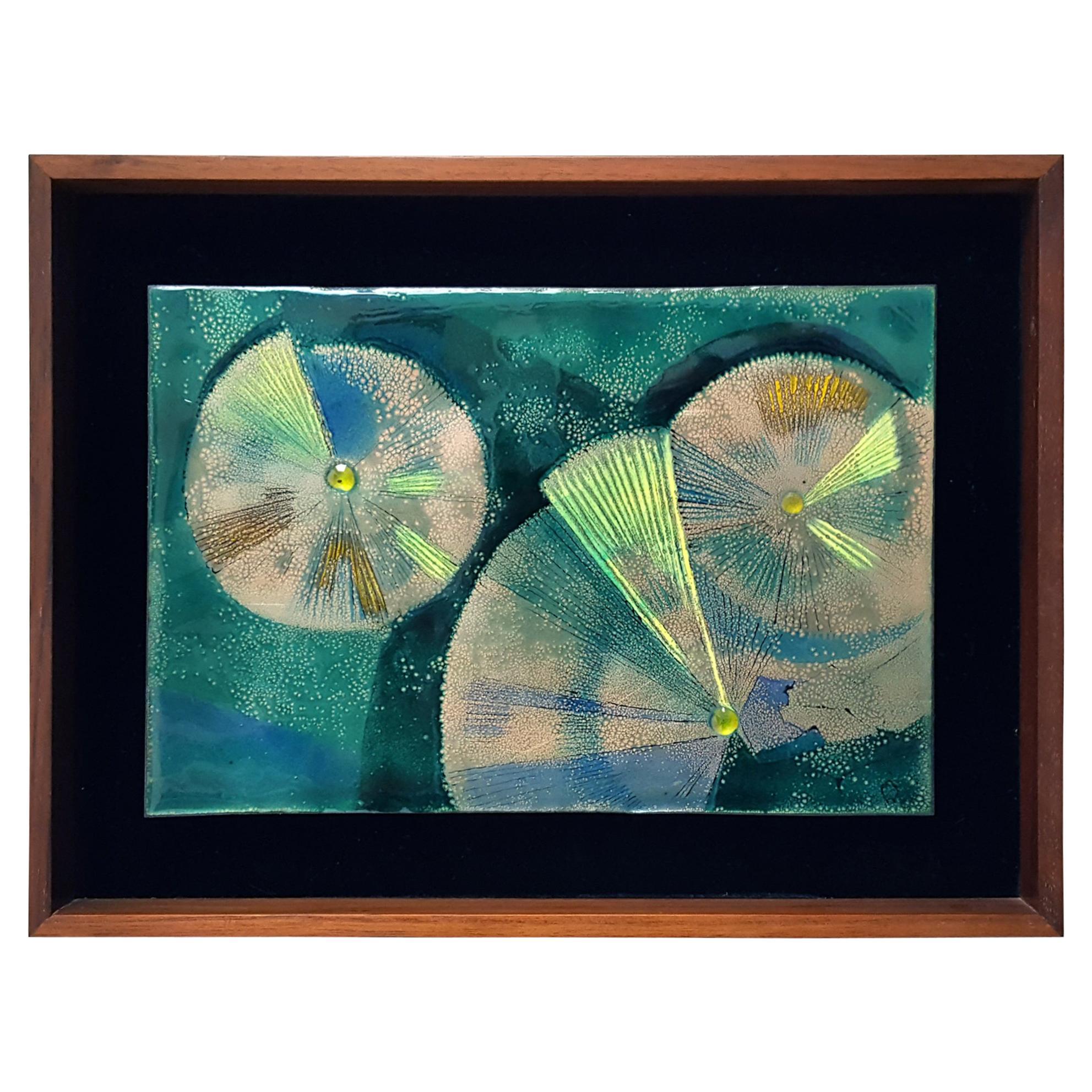 Irwin Whitaker Enamel Abstract, 1960s