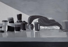 'Deadline', Black and White Woman Realistic Portrait