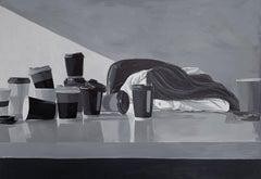 Deadline, Black and White Woman Realistic Portrait