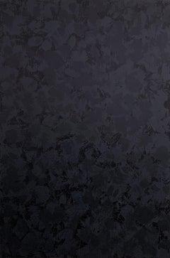 'Panthera', Big Black and White Abstract Animal Pattern Painting