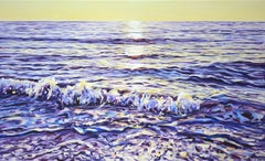 A magical sunrise at the sea, Painting, Acrylic on Canvas