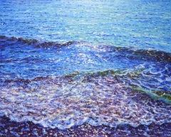 Blue ocean, Painting, Oil on Canvas