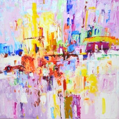 City of joy., Painting, Acrylic on Canvas