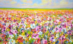 Flower field, Painting, Oil on Canvas