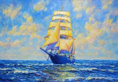 Full sail, Painting, Oil on Canvas