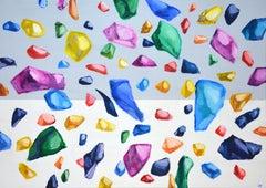 Gems 2., Painting, Acrylic on Canvas
