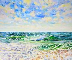Ocean, Painting, Acrylic on Canvas