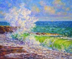 Ocean surf, Painting, Oil on Canvas