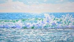 Sea bliss, Painting, Acrylic on Canvas