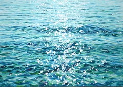 Shimmering waves, Painting, Acrylic on Canvas