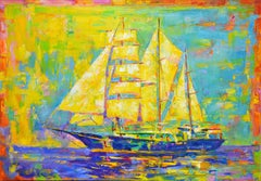 Ship, Painting, Oil on Canvas