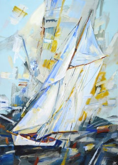 Silver sails, Painting, Acrylic on Canvas