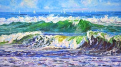Waves, Painting, Oil on Canvas
