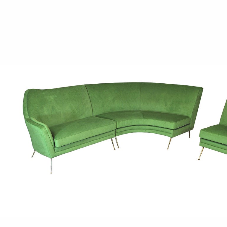 ISA Bergamo Corner Sofa from the 1950s For Sale 3