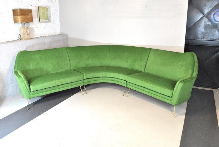 Mid-Century Modern ISA Bergamo Corner Sofa from the 1950s For Sale