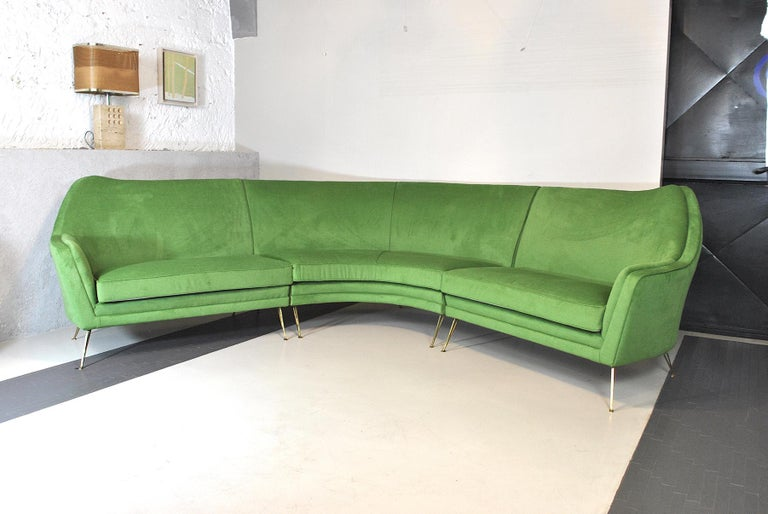 Italian ISA Bergamo Corner Sofa from the 1950s For Sale