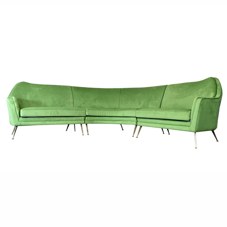 ISA Bergamo Corner Sofa from the 1950s In Excellent Condition For Sale In bari, IT
