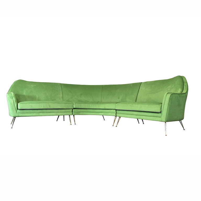 Mid-20th Century ISA Bergamo Corner Sofa from the 1950s For Sale