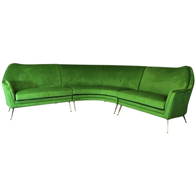 ISA Bergamo Corner Sofa from the 1950s For Sale
