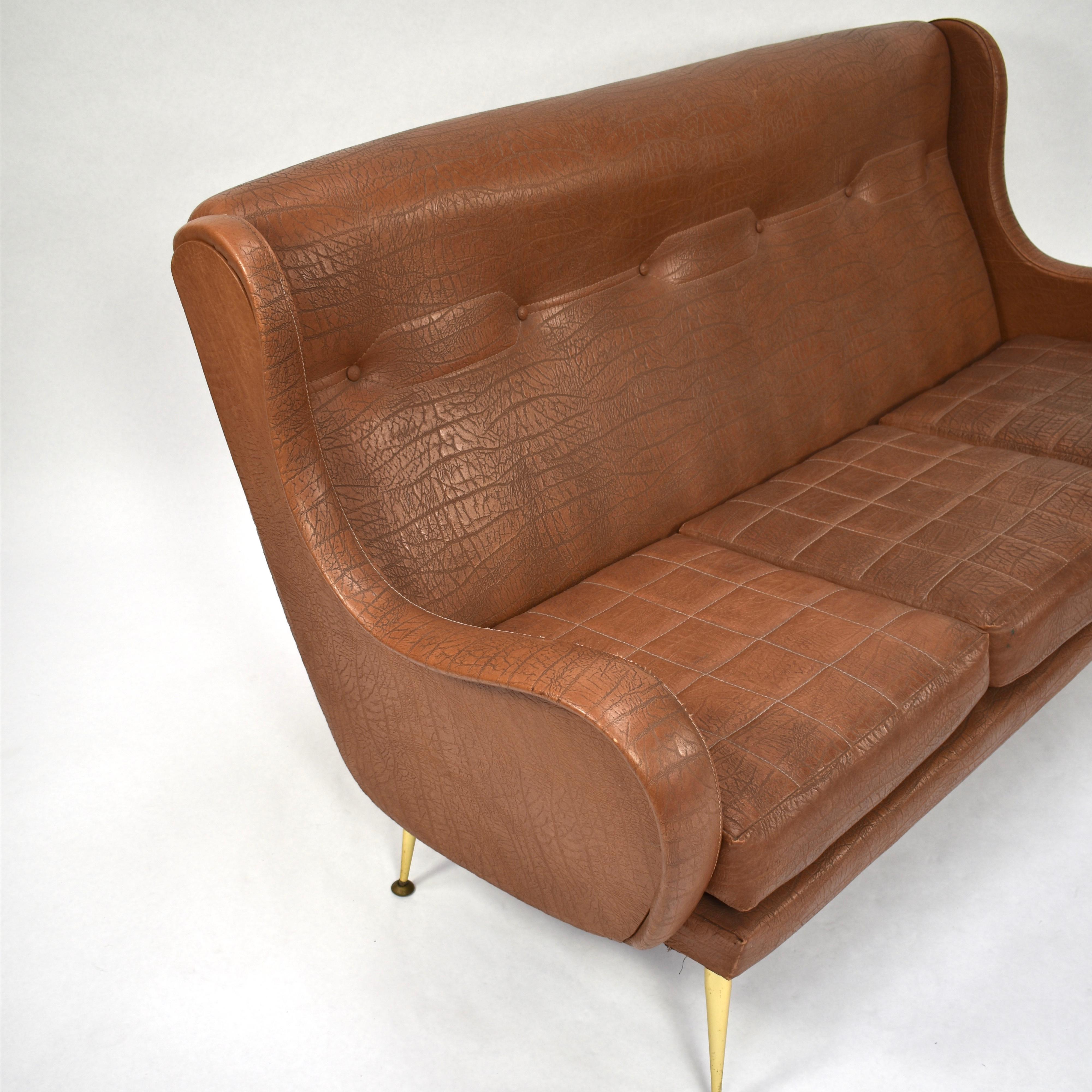 Stupendous Isa Bergamo Sofa By Aldo Morbelli Italy 1950S At 1Stdibs Beatyapartments Chair Design Images Beatyapartmentscom