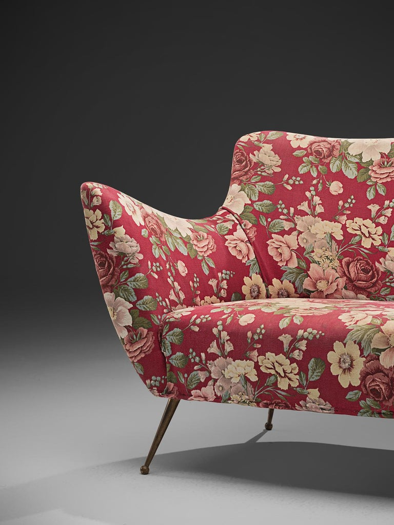 Isa Bergamo Sofa In Floral Fabric For Sale At 1stdibs