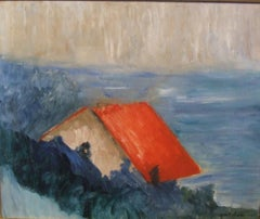 Red roof over the sea