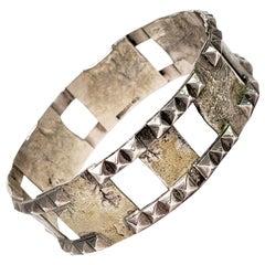 Isaac Cohen of Sweden Sterling Silver Modernist Bangle Bracelet