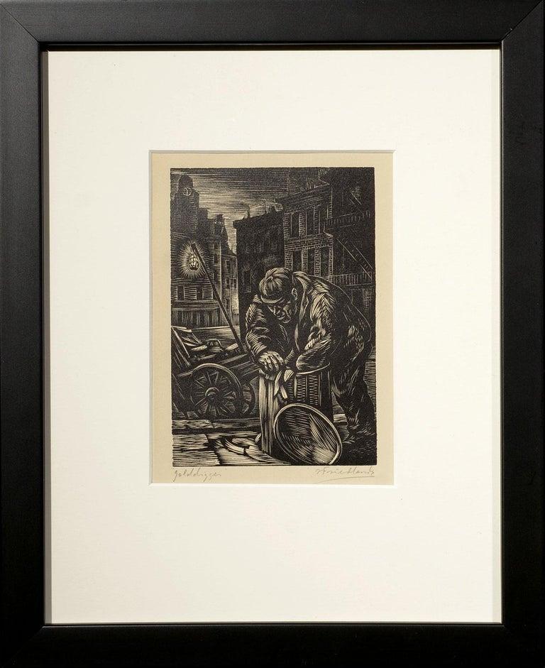 """""""Golddigger,"""" Isaac Friedlander, WPA, New York City, Social Realism, 1931 - Print by Isaac Friedlander"""