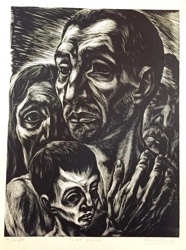 My People - Expressionist Print by Isaac Friedlander